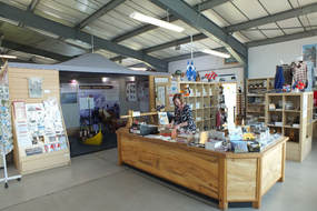 Photo of the museum entrance area and the shop