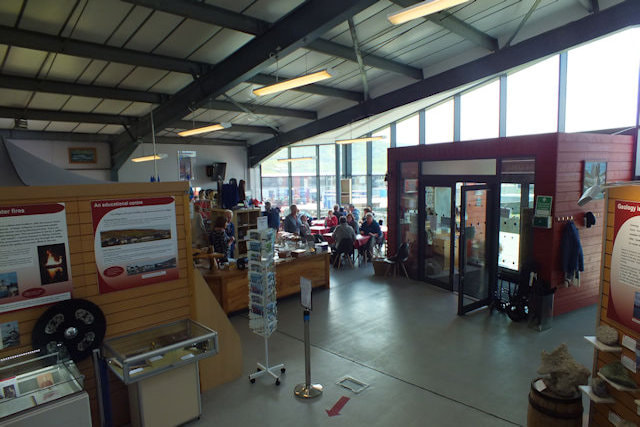 Photo of our entrance and cafe area with no steps between the outside and the museum